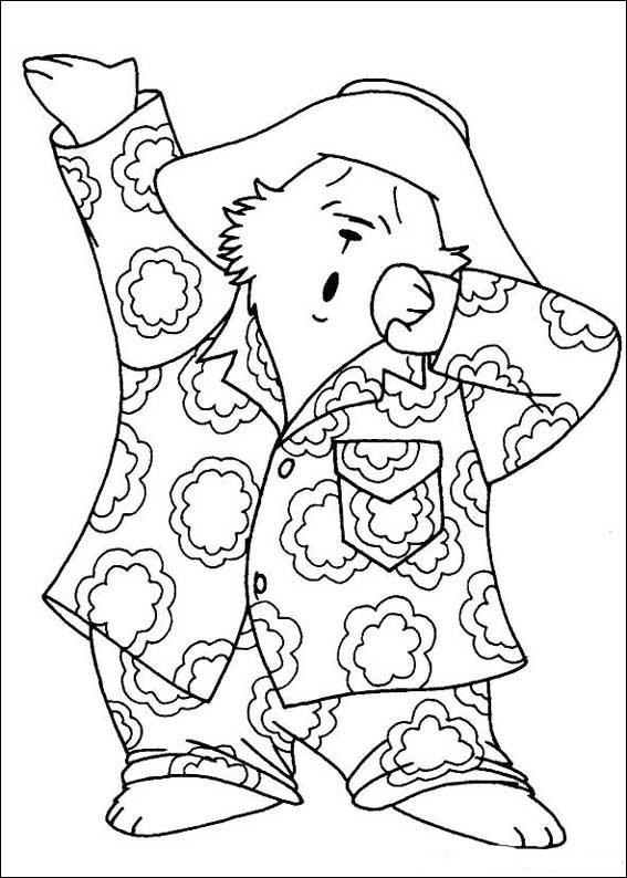Paddington Bear (2) coloring page