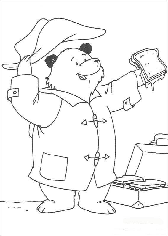 Paddington Bear (7) coloring page