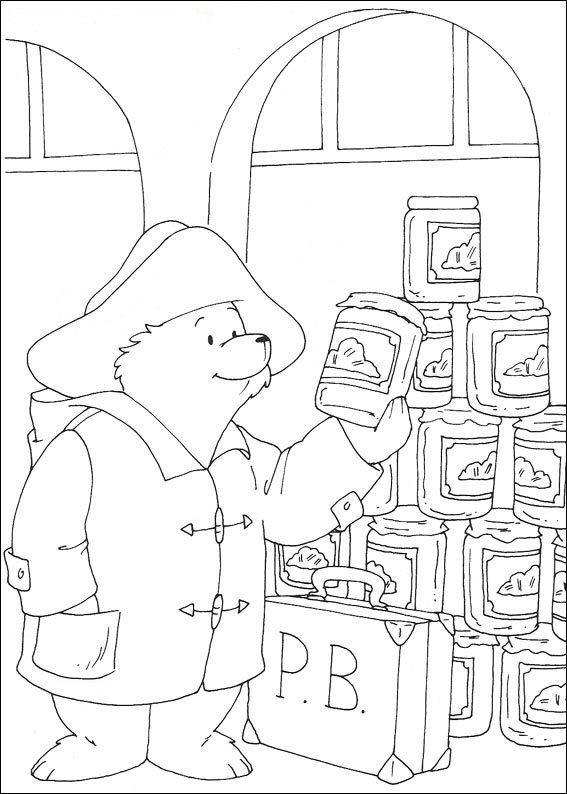 Paddington Bear (8) coloring page
