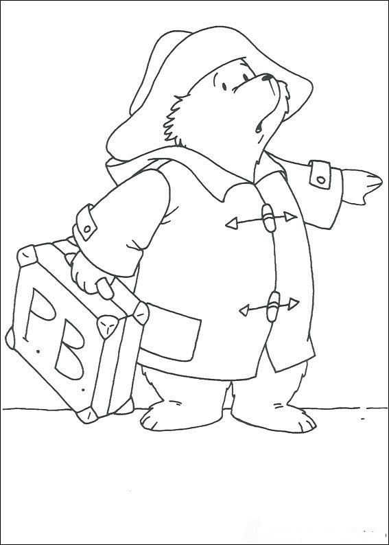 Paddington Bear (9) coloring page