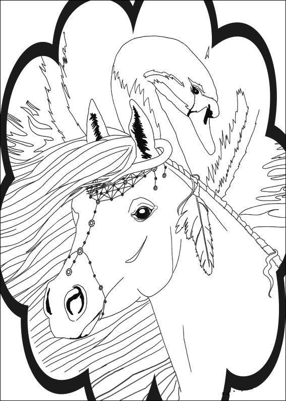 Bella Sara (5) coloring page