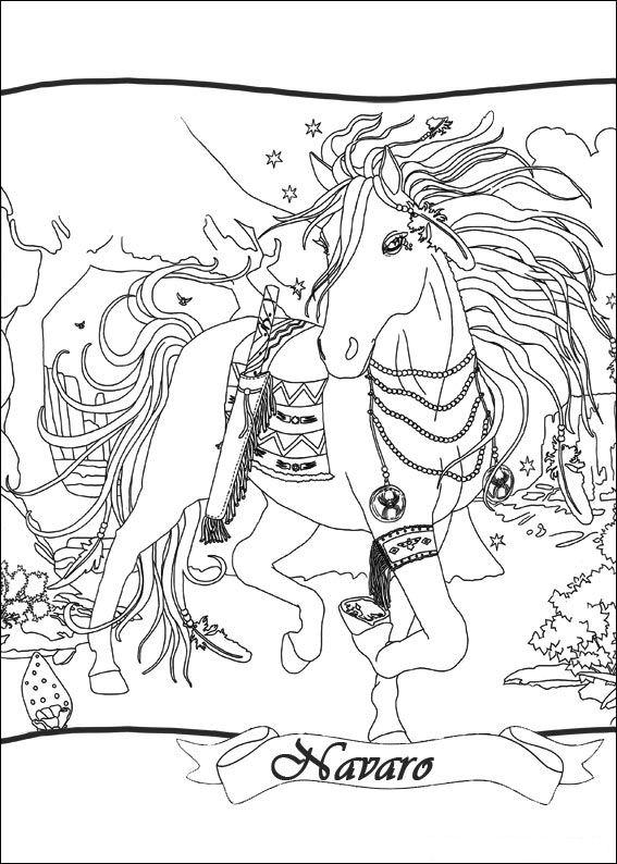 Bella Sara coloring page