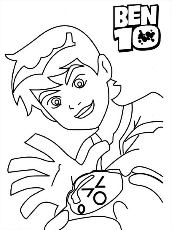 Ben 10 (10) coloring page
