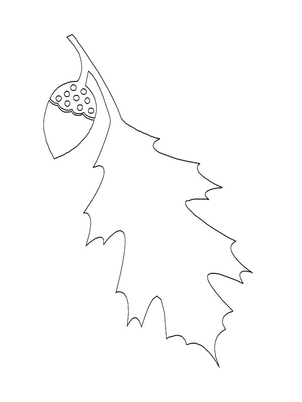 Leaves (11) coloring page