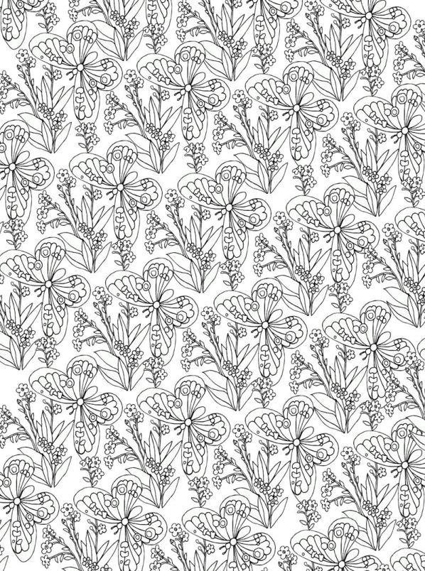 Bloemen voor volwassenen (10) kleurplaat