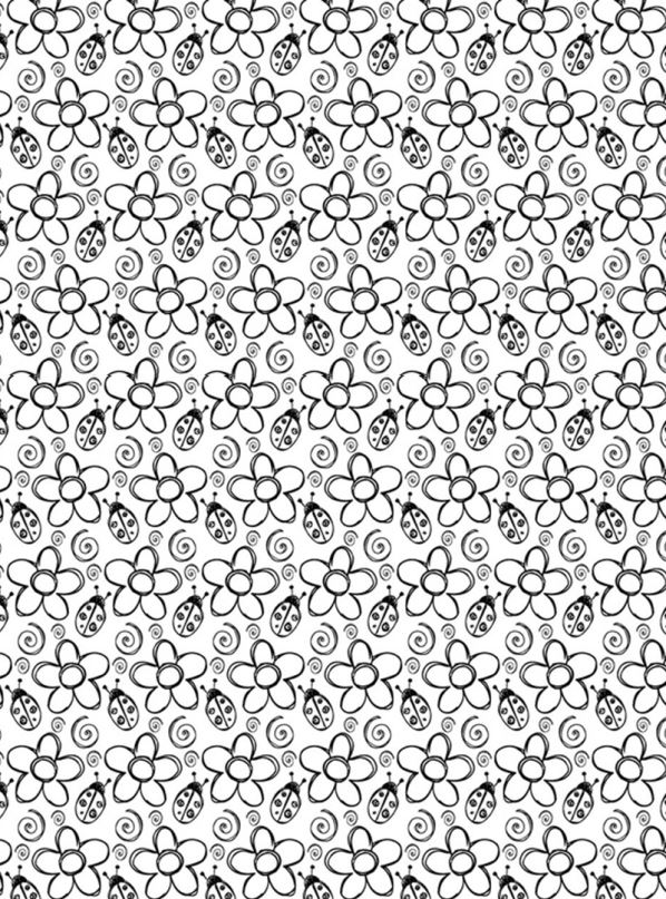 Bloemen voor volwassenen (4) kleurplaat