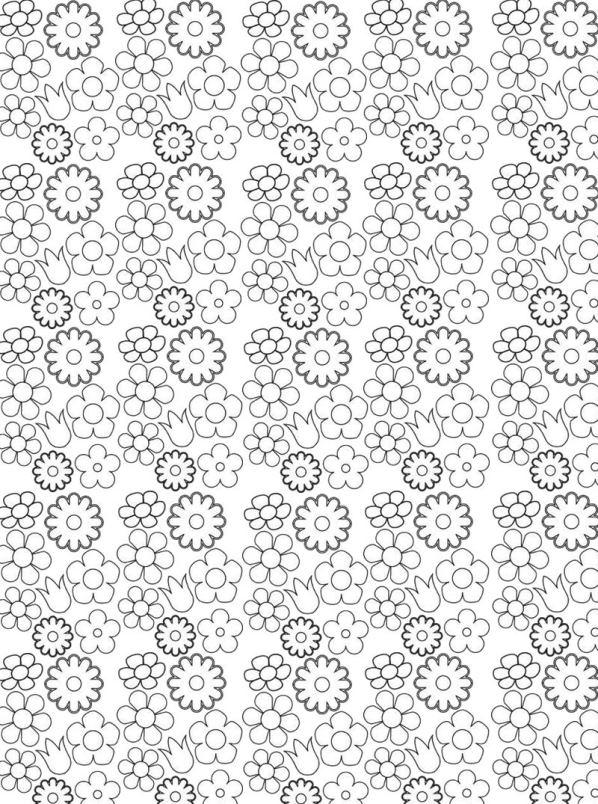 Bloemen voor volwassenen (6) kleurplaat