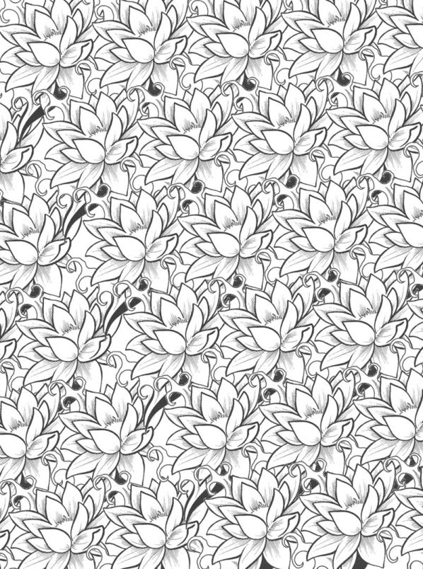 Bloemen voor volwassenen (9) kleurplaat