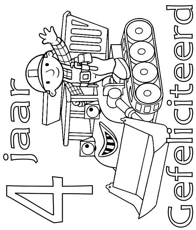 Bob and Muck 4 year coloring page