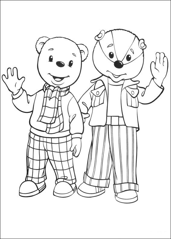 Brown bear (13) coloring page
