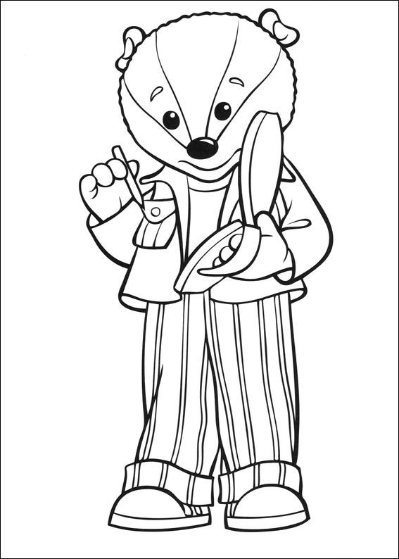 Brown bear (16) coloring page