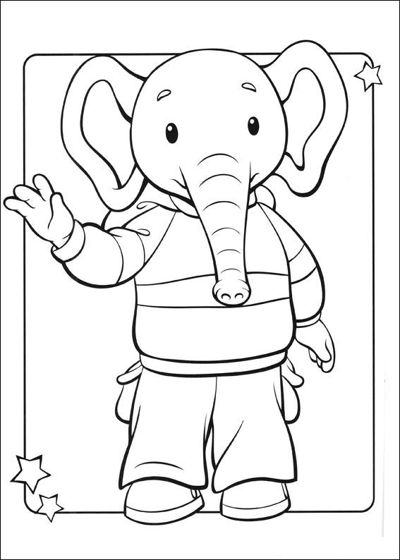 Brown bear (22) coloring page