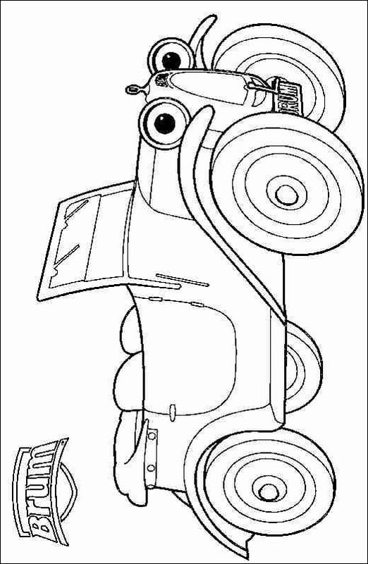 Brum (3) coloring page