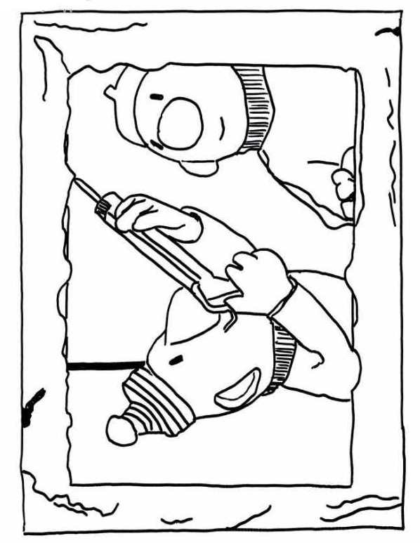 Neighbor and Neighbor (2) coloring page