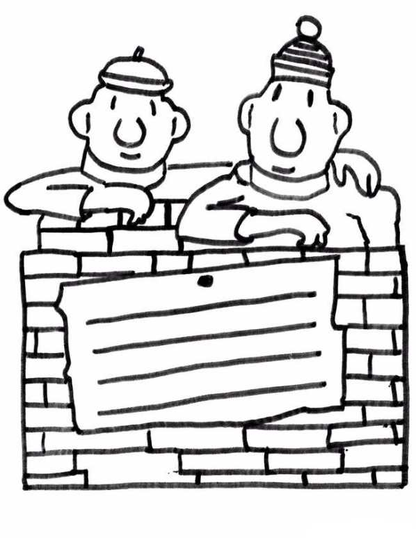 Neighbor and Neighbor (3) coloring page