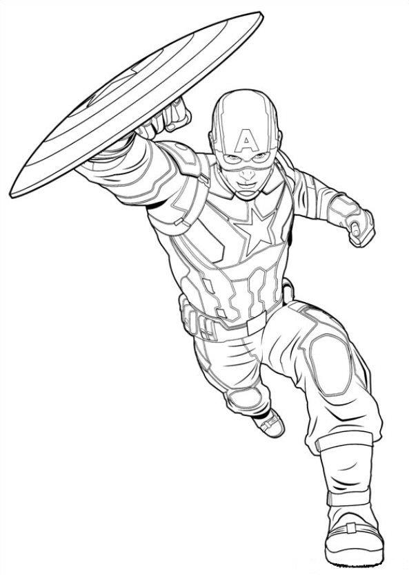 Captain America Civil War (10) coloring page