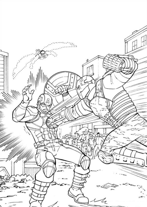 Captain America Civil War (11) coloring page
