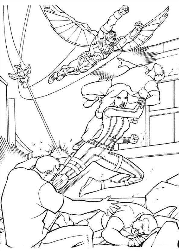 Captain America Civil War (12) coloring page