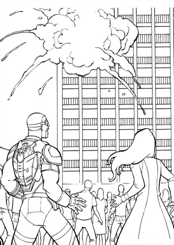 Captain America Civil War (14) coloring page