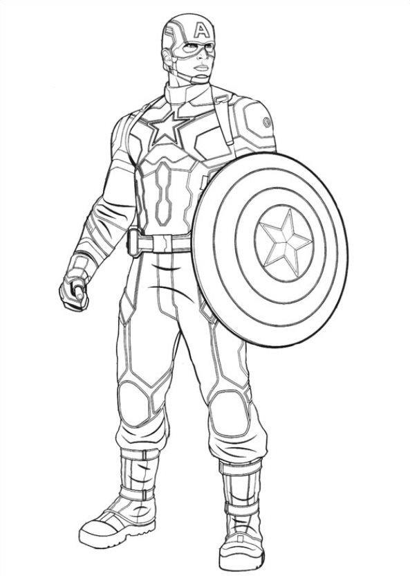 Captain America Civil War (3) kleurplaat