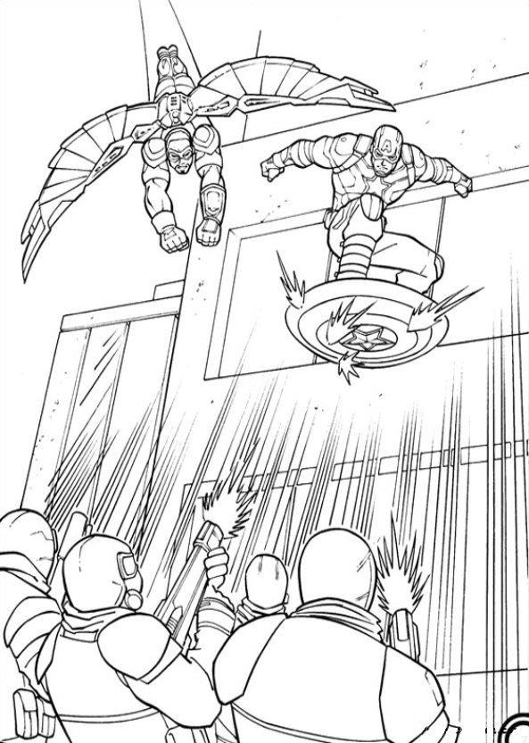 Captain America Civil War (4) coloring page