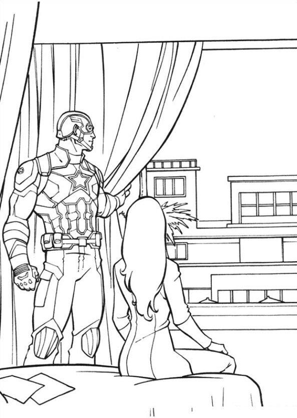 Captain America Civil War kleurplaat