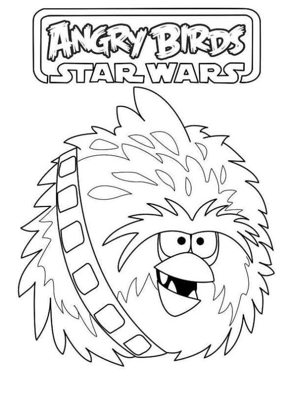 chewbacca målarbok