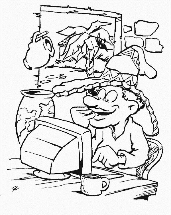 Computer (16) coloring page