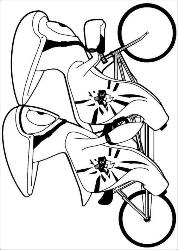 cykel målarbok