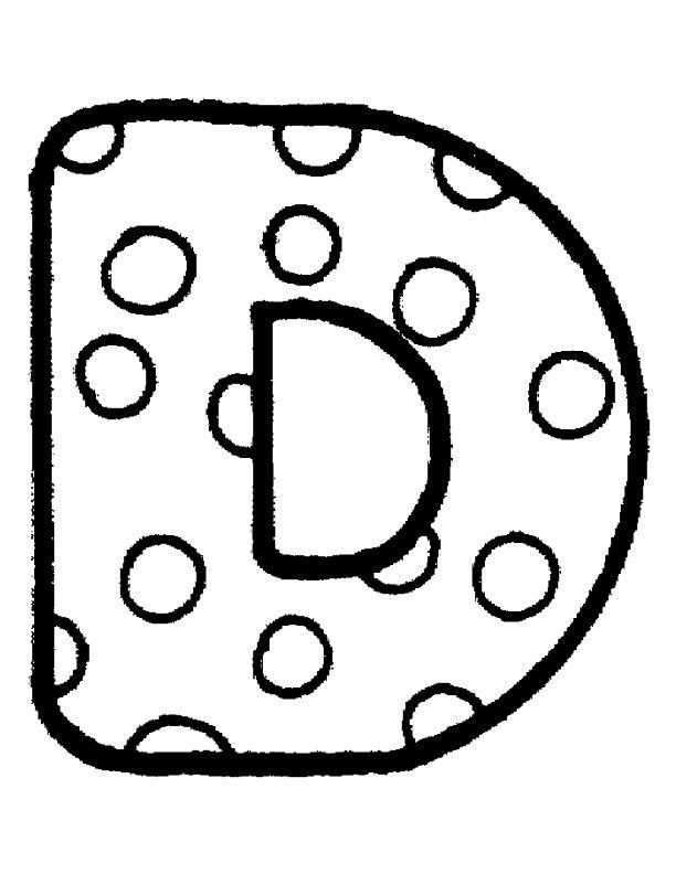 D kleurplaat