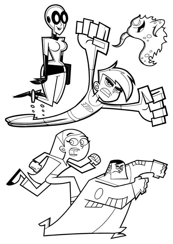 Danny Phantom (6) coloring page