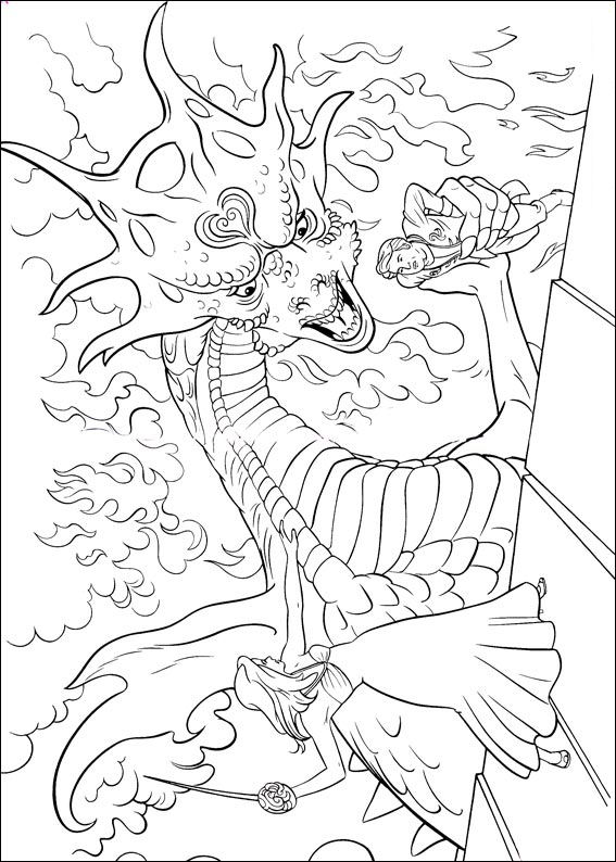 The Dragon coloring page