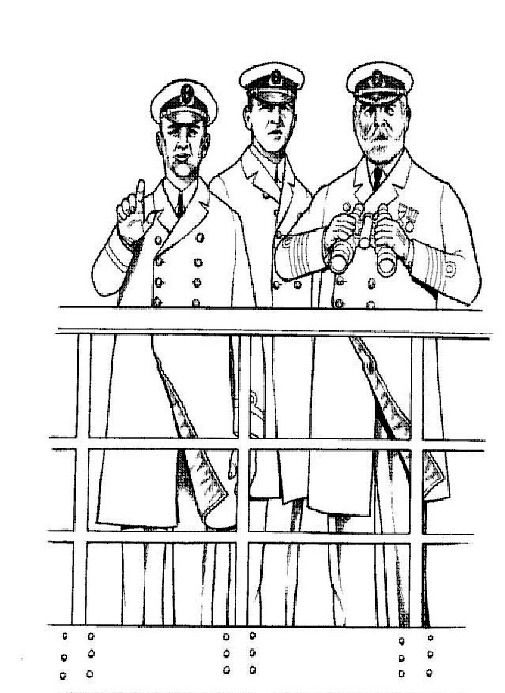 The officers, Captain Edwrad J. Smith coloring page