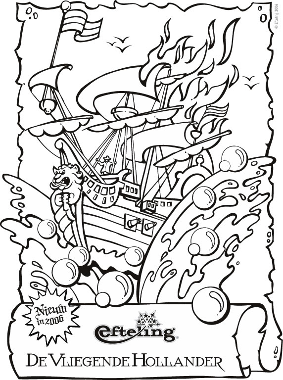 The flying Dutchman coloring page