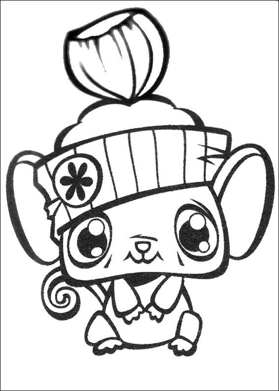 Animal friend coloring page