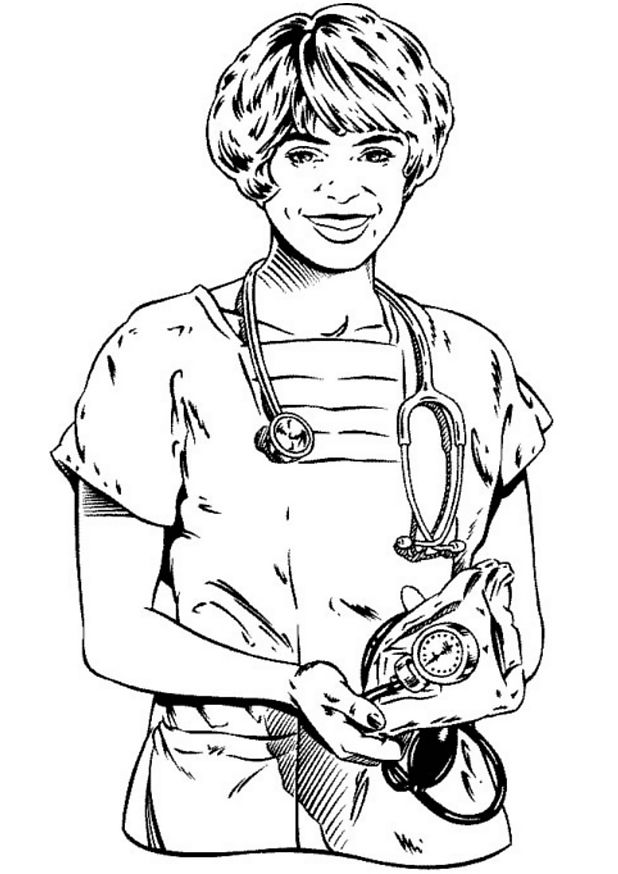 Doctor (1) coloring page