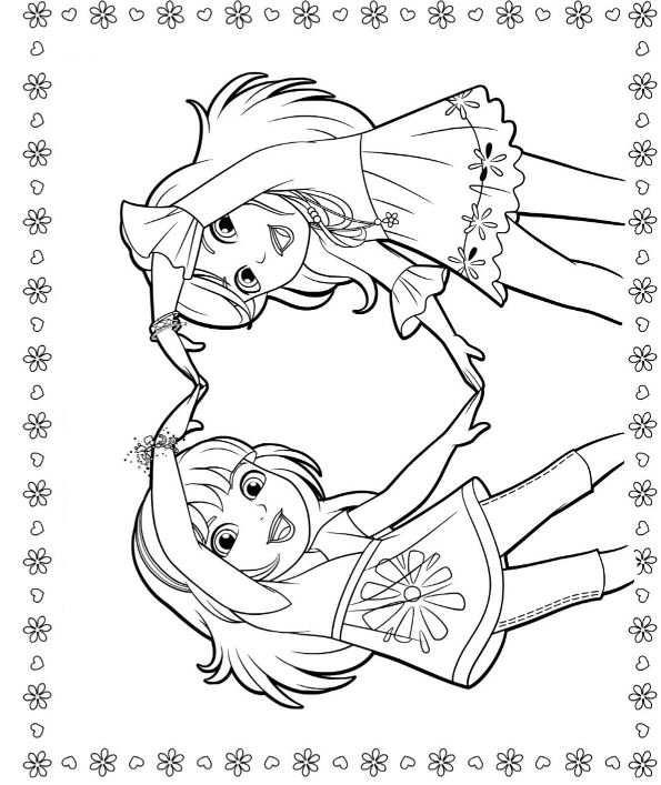 Kleurplaten Dora En Friends.Dora And Friends 2 Kleurplaat Jouwkleurplaten