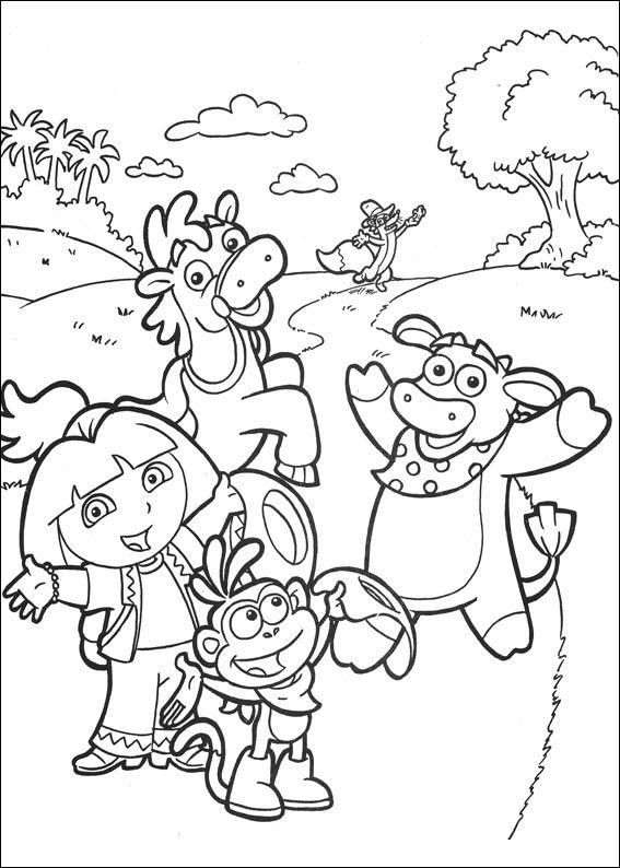 Dora the Explorer 2 coloring page
