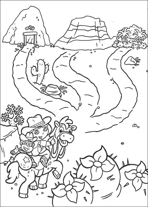 Dora the Explorer 2 (2) coloring page