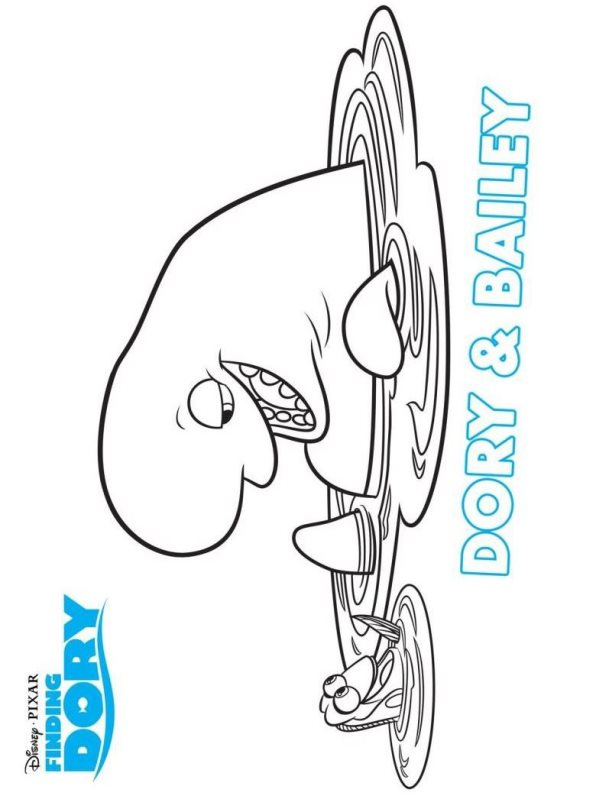 dory bailey coloring page
