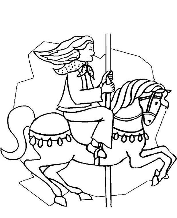 Carousel (1) coloring page