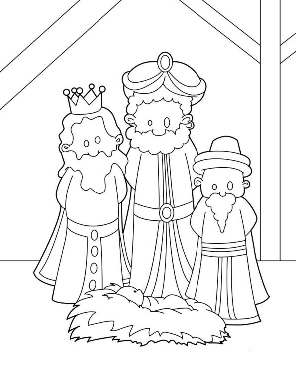 Three kings (10) coloring page