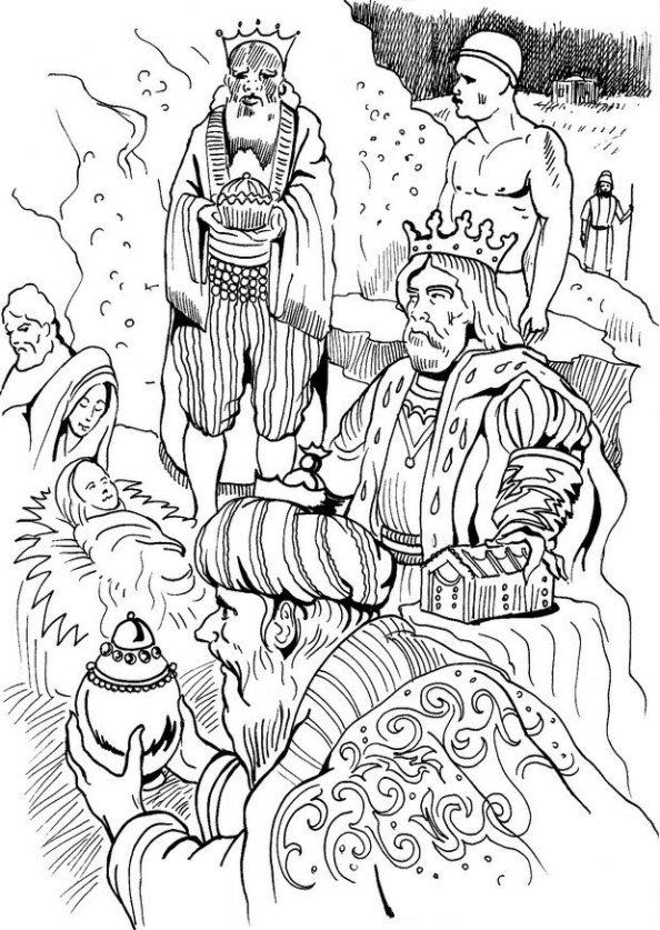 Drie koningen (12) kleurplaat