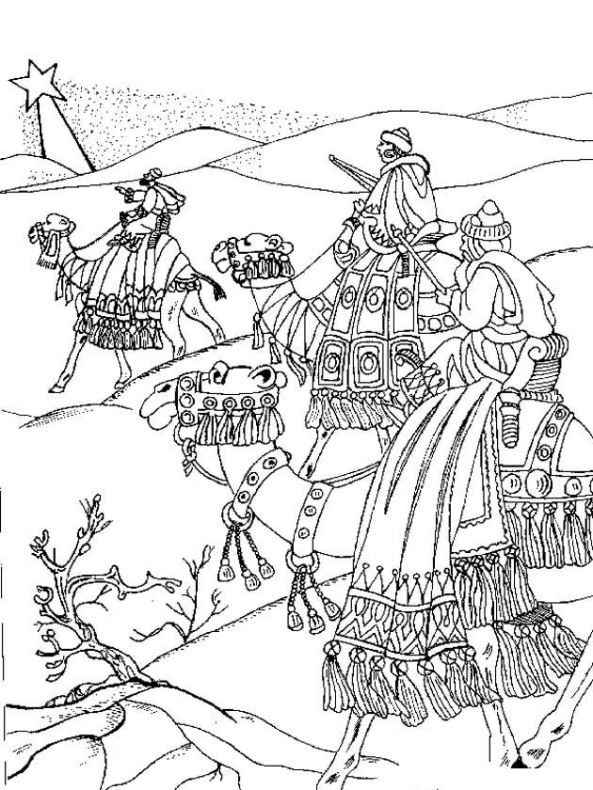 Three kings (13) coloring page