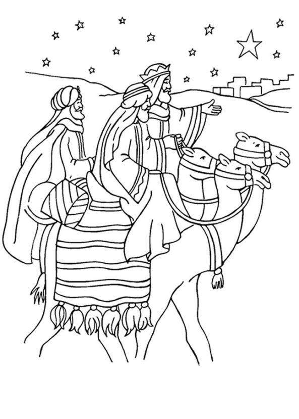 Drie koningen (16) kleurplaat