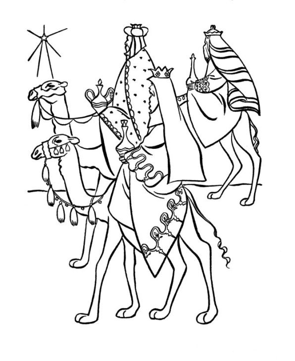 Three kings (2) coloring page