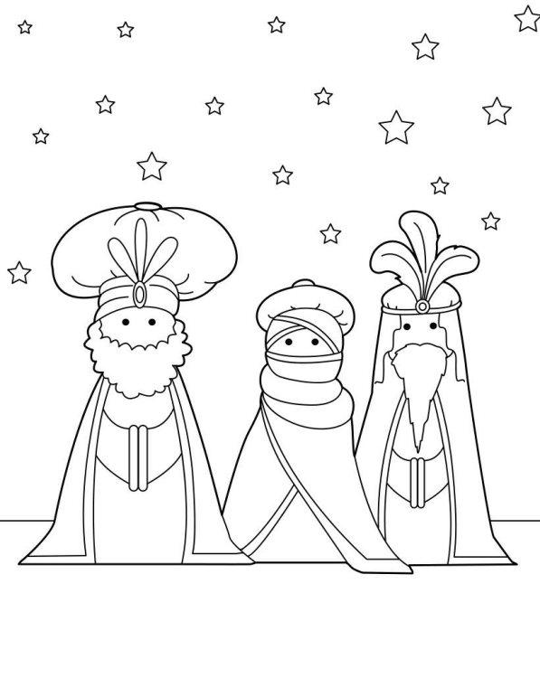 Drie koningen (5) kleurplaat