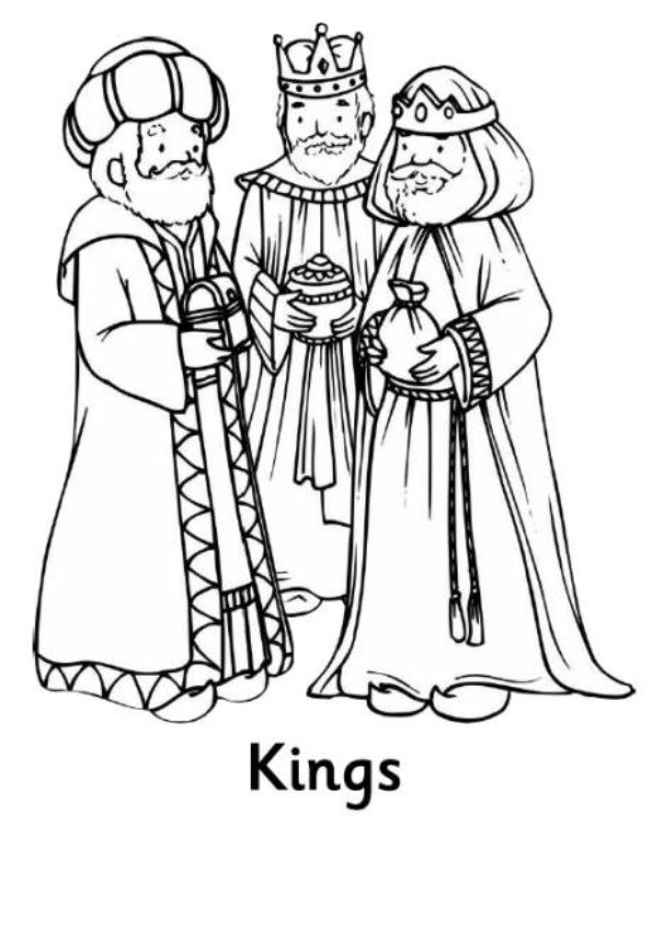 Three kings (6) coloring page