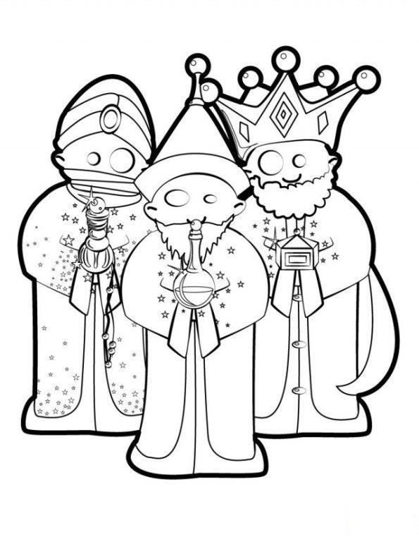 Drie koningen (7) kleurplaat