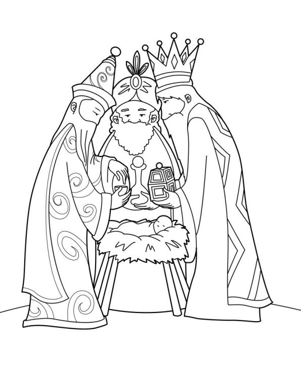 Three kings (9) coloring page